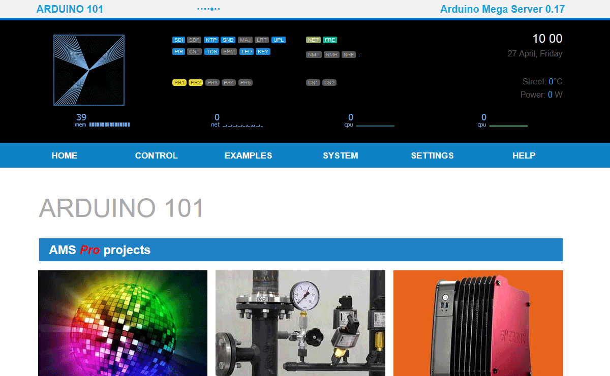 Arduino Mega Server for 101 0.17