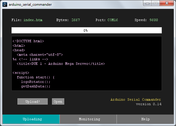 Arduino Serial Commander